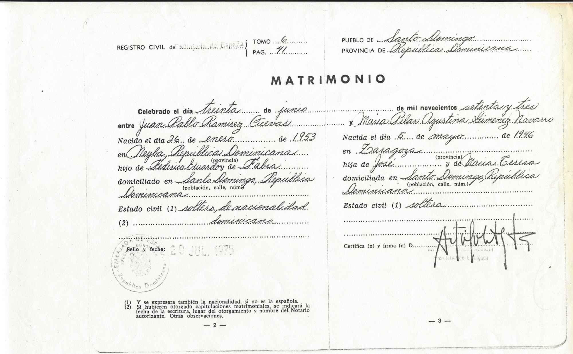 Matrimonio Catolico Registro Civil : Boda maría pilar giménez navarro